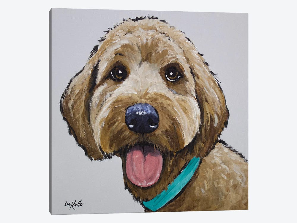 Goldendoodle - Olivia by Hippie Hound Studios 1-piece Canvas Wall Art