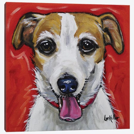 Jack Russell - Ginny Canvas Print #HHS203} by Hippie Hound Studios Canvas Art