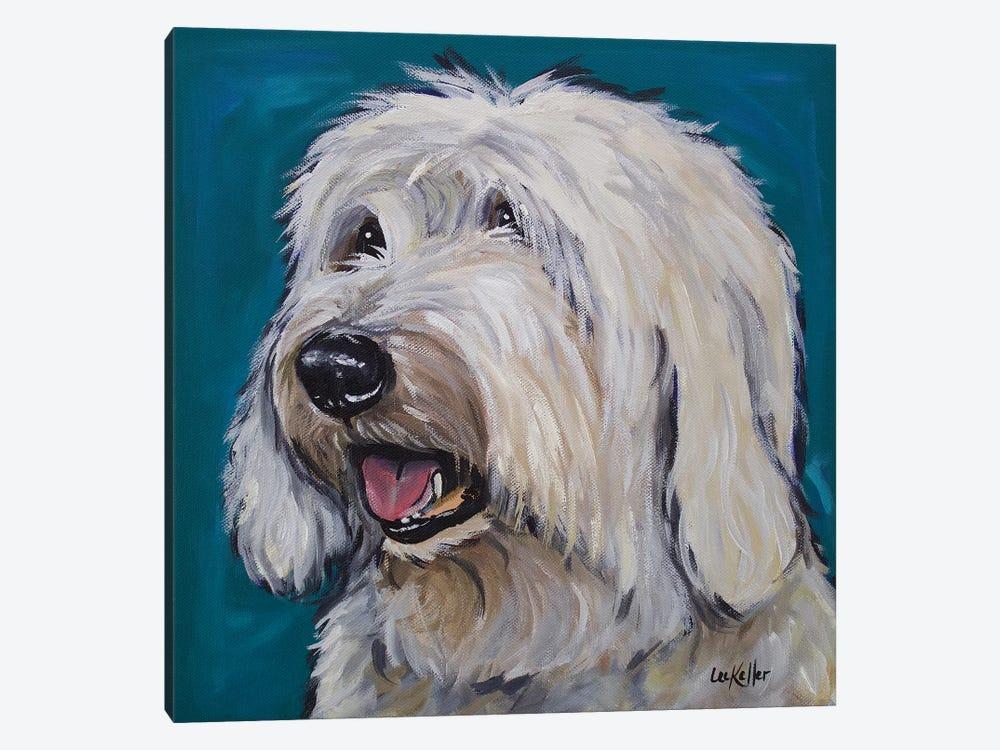 Old English Sheepdog - Rooney by Hippie Hound Studios 1-piece Canvas Print