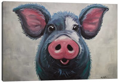 Pig - Lulu Canvas Art Print