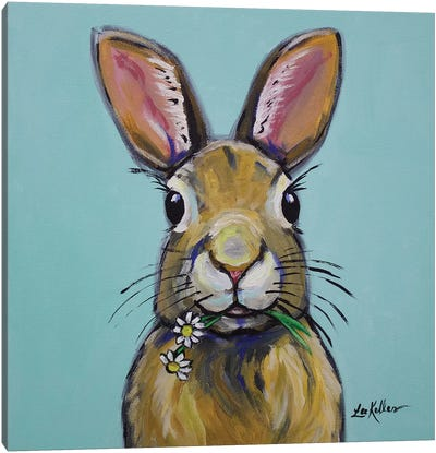 Rabbit - Meadow Canvas Art Print