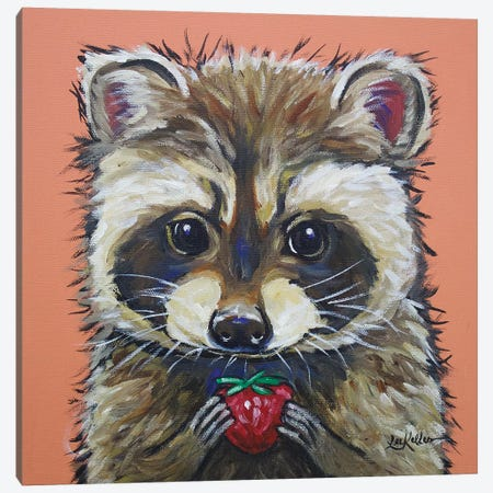 Raccoon - Callie Canvas Print #HHS218} by Hippie Hound Studios Canvas Art Print