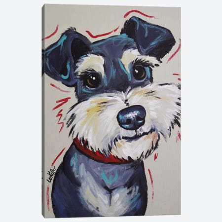 Schnauzer Whimsical - Mr Foozootie Canvas Print #HHS223} by Hippie Hound Studios Canvas Art