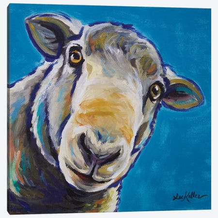 Sergio The Sheep Canvas Print #HHS224} by Hippie Hound Studios Art Print