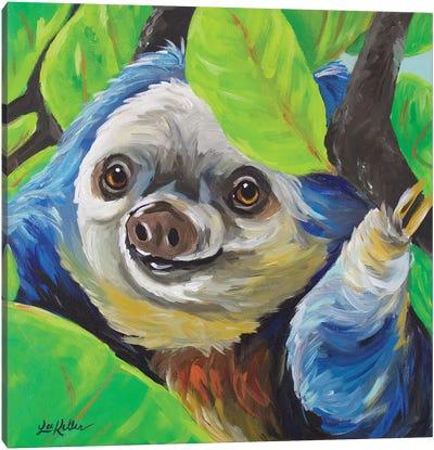 Sloth - Speedy Canvas Art Print