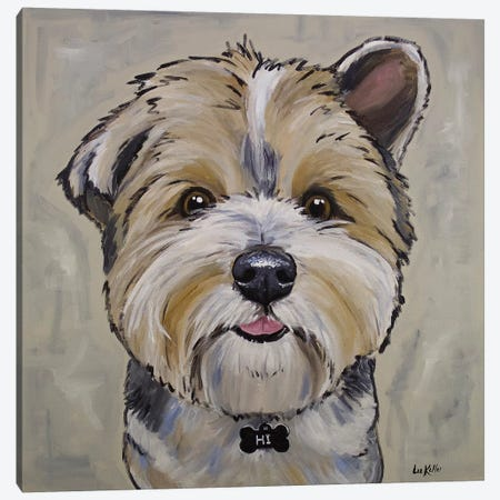 Terrier - Bucky Canvas Print #HHS227} by Hippie Hound Studios Art Print