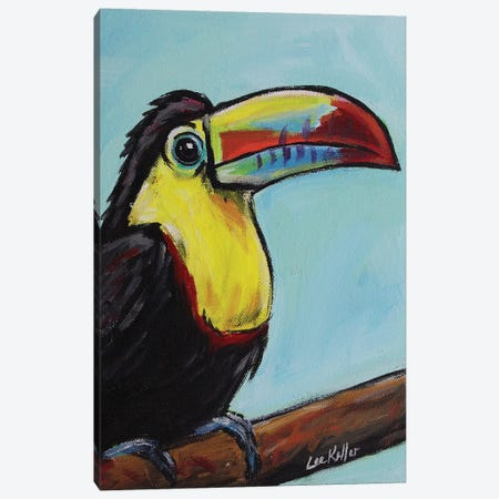 Toucan Canvas Print #HHS228} by Hippie Hound Studios Canvas Art
