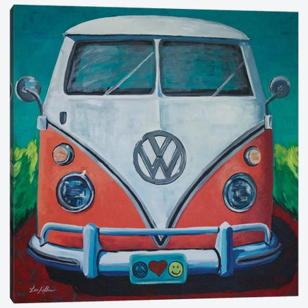 Volkswagen Van Bohemian Dream Canvas Print #HHS229} by Hippie Hound Studios Canvas Art