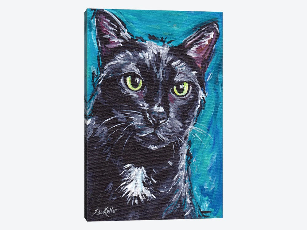 Expressive Black Cat 1-piece Canvas Wall Art