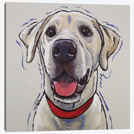 Yellow Lab - Hank Canvas Print #HHS230} by Hippie Hound Studios Canvas Art Print