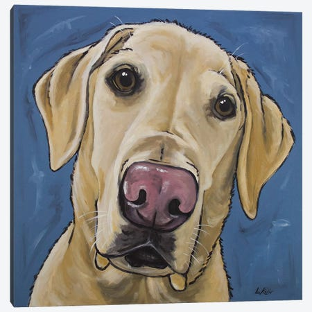 Yellow Lab - Maggie Canvas Print #HHS232} by Hippie Hound Studios Canvas Art Print