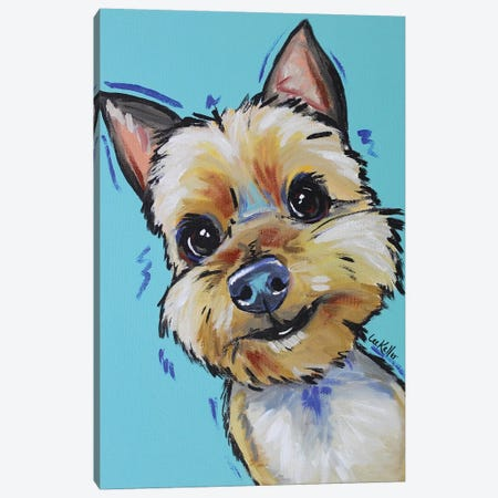 Yorkie - Jaxson Canvas Print #HHS234} by Hippie Hound Studios Canvas Artwork