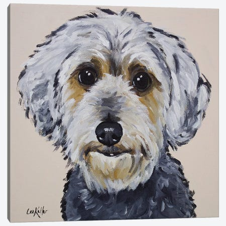 Yorkie Poo - Snickers Canvas Print #HHS235} by Hippie Hound Studios Canvas Artwork