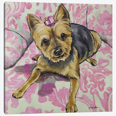 Yorkie - Zooey Canvas Print #HHS236} by Hippie Hound Studios Canvas Art