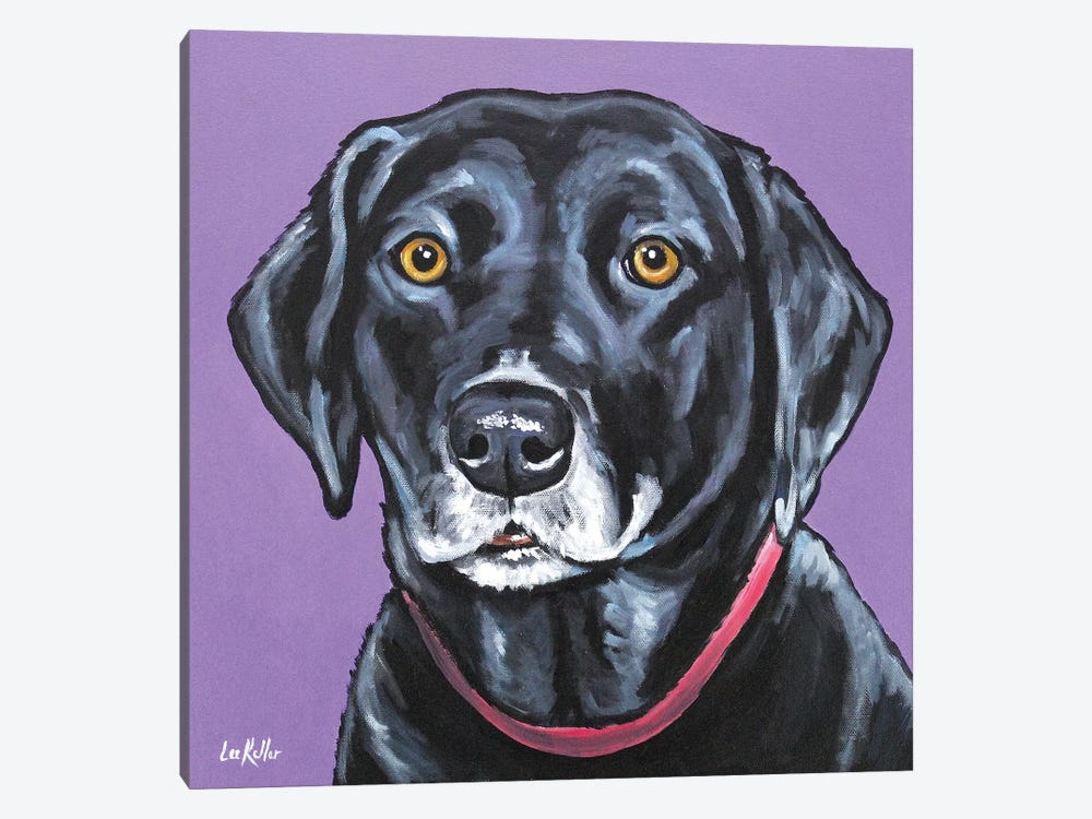 Black Lab - Fifi by Hippie Hound Studios 1-piece Art Print
