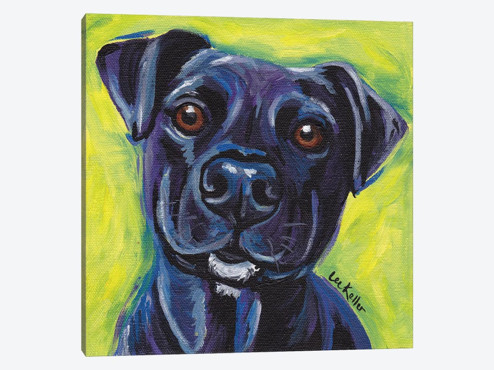 Expressive Black Dog by Hippie Hound Studios 1-piece Canvas Art Print