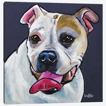 Bulldog Canvas Print #HHS243} by Hippie Hound Studios Canvas Artwork