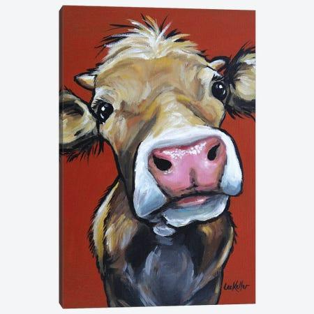 Cow - Hazel Canvas Print #HHS247} by Hippie Hound Studios Canvas Art Print