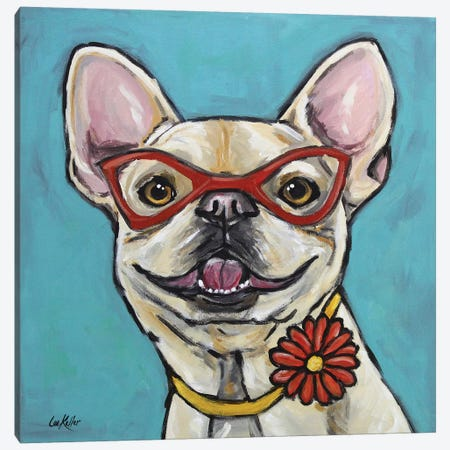 Frenchie - Gigi Canvas Print #HHS248} by Hippie Hound Studios Canvas Art