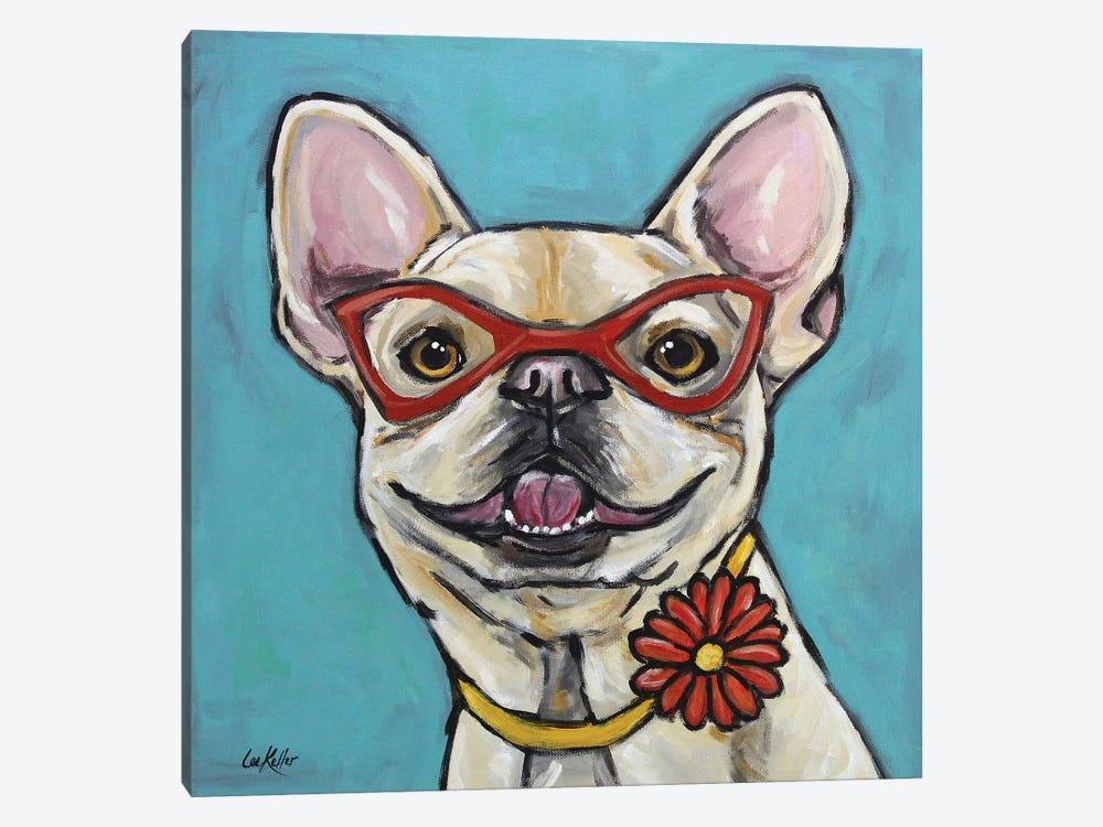 Frenchie - Gigi by Hippie Hound Studios 1-piece Canvas Artwork