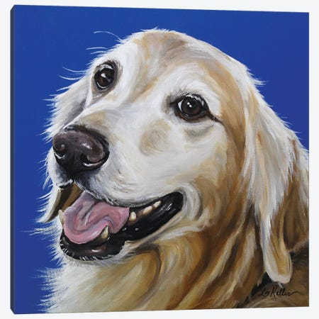 Golden Retriever - Connor Canvas Print #HHS252} by Hippie Hound Studios Art Print