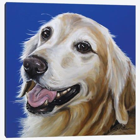 Golden Retriever - Connor Canvas Print #HHS252} by Hippie Hound Studios Art Print