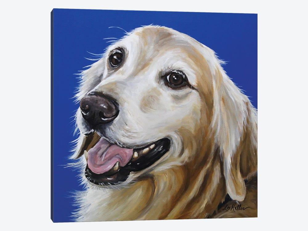 Golden Retriever - Connor by Hippie Hound Studios 1-piece Canvas Print