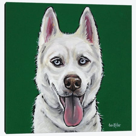 Husky - Echo Canvas Print #HHS254} by Hippie Hound Studios Canvas Artwork