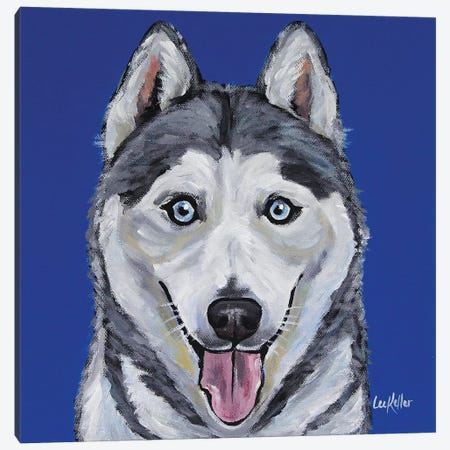 Husky - Leia Canvas Print #HHS255} by Hippie Hound Studios Canvas Wall Art