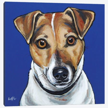 Jack Russell - Buster Canvas Print #HHS256} by Hippie Hound Studios Canvas Artwork