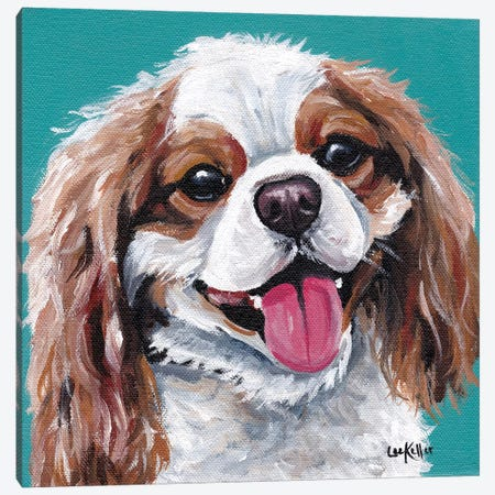 King Charles Spaniel - King Canvas Print #HHS257} by Hippie Hound Studios Canvas Artwork
