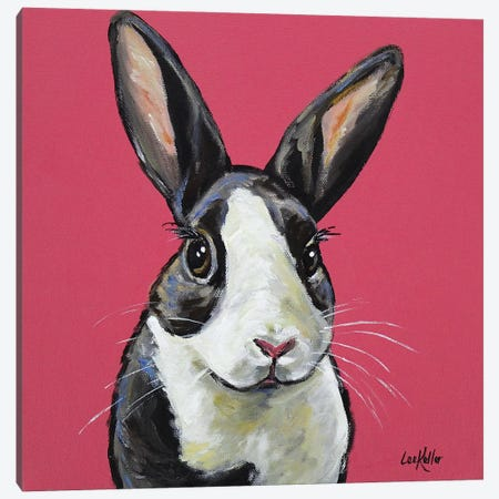 Rabbit - Gigi Canvas Print #HHS260} by Hippie Hound Studios Canvas Art