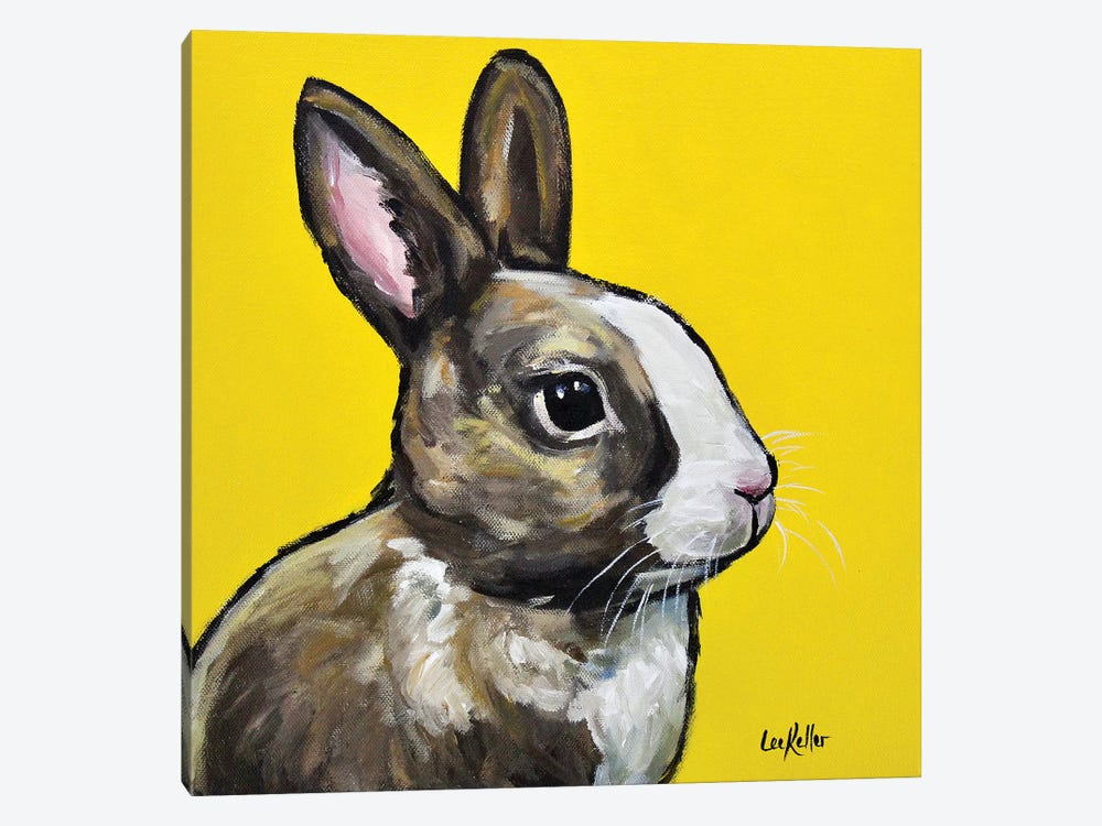Rabbit - Louie by Hippie Hound Studios 1-piece Art Print