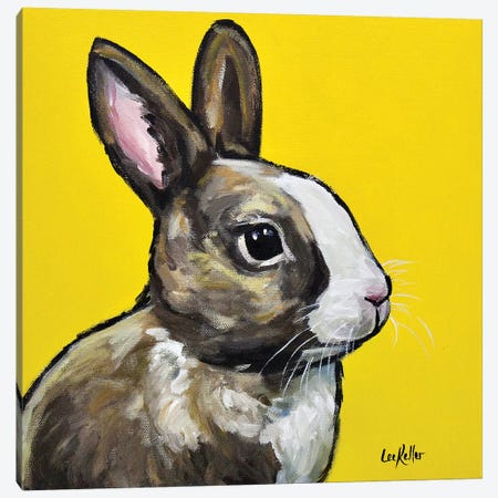 Rabbit - Louie Canvas Print #HHS261} by Hippie Hound Studios Canvas Art