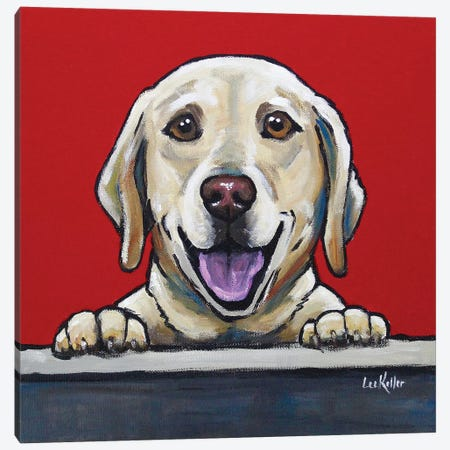 Yellow Lab - Jack Bauer Canvas Print #HHS264} by Hippie Hound Studios Art Print