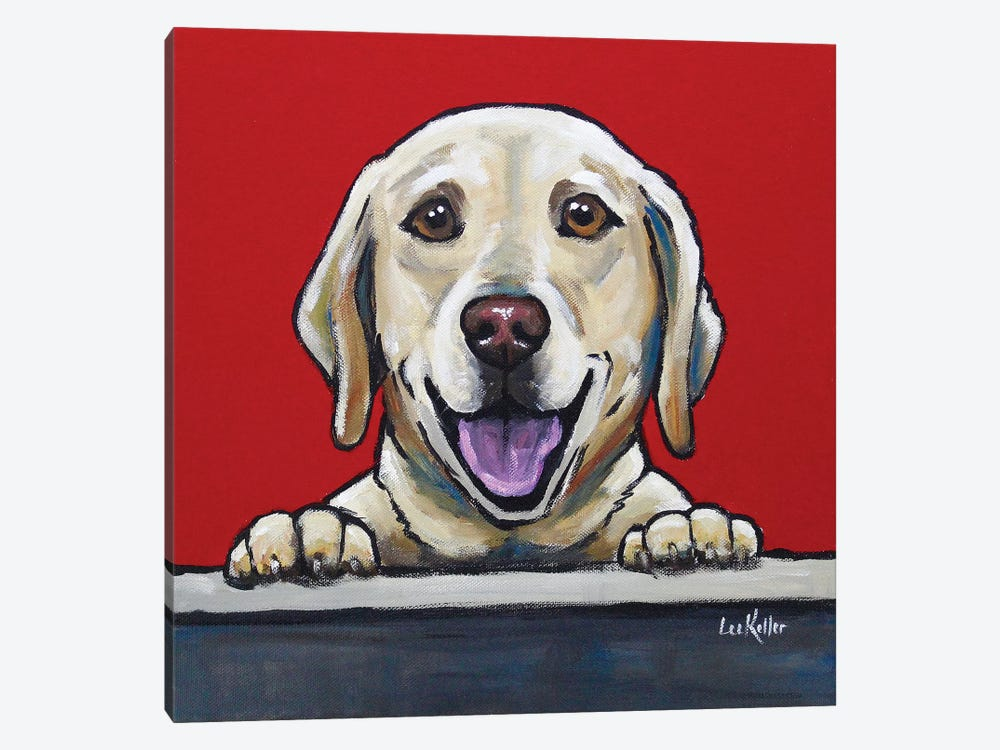 Yellow Lab - Jack Bauer by Hippie Hound Studios 1-piece Canvas Wall Art