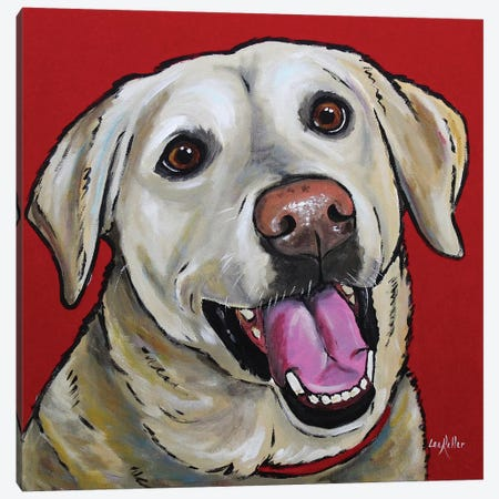 Yellow Lab - Marley Canvas Print #HHS265} by Hippie Hound Studios Canvas Art Print