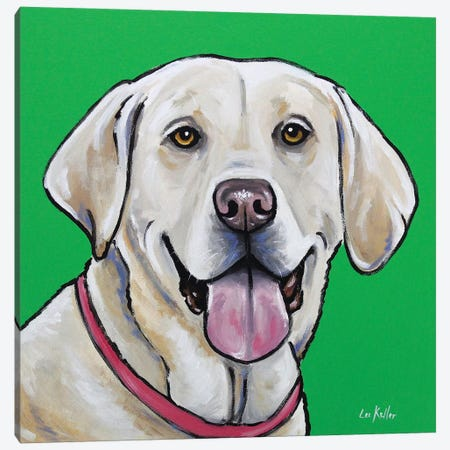Yellow Lab - Summer Canvas Print #HHS266} by Hippie Hound Studios Canvas Art Print