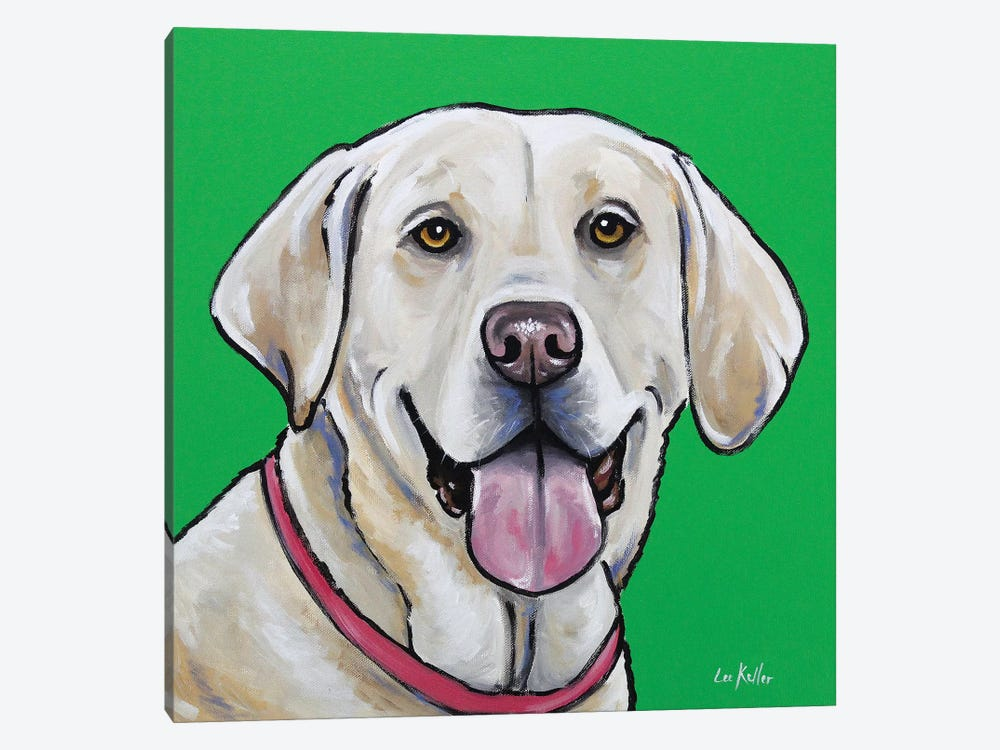 Yellow Lab - Summer 1-piece Canvas Wall Art