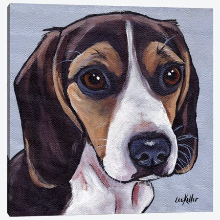 Beagle Puppy Canvas Print #HHS269} by Hippie Hound Studios Canvas Wall Art