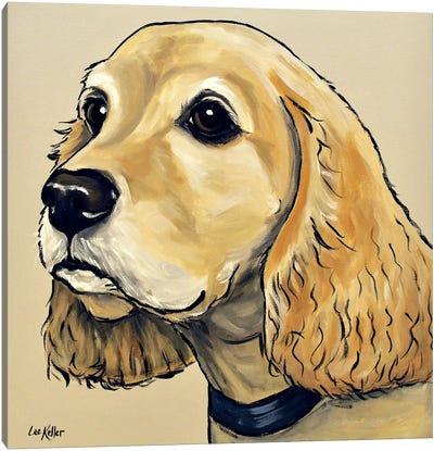 Cocker Spaniel On Tan Canvas Art Print