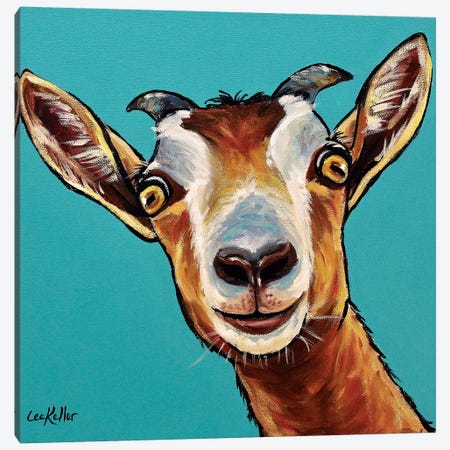 Goat Painting Dub Canvas Print #HHS284} by Hippie Hound Studios Canvas Art Print