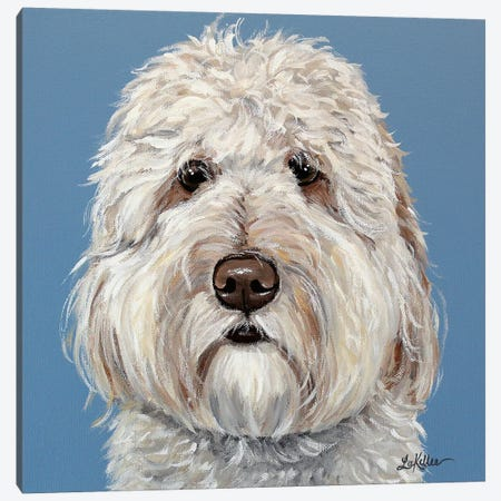 Emmitt The Goldendoodle Canvas Print #HHS287} by Hippie Hound Studios Canvas Print