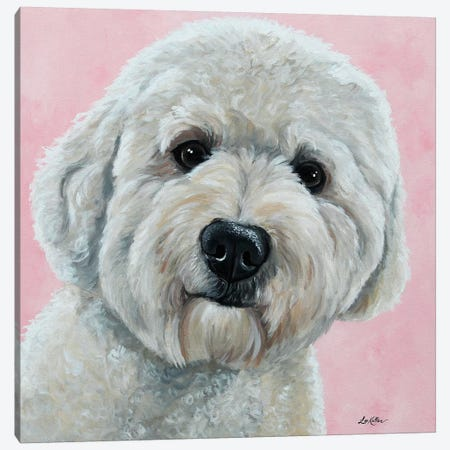 Hank The Goldendoodle Canvas Print #HHS288} by Hippie Hound Studios Canvas Wall Art