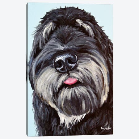 Labradoodle  3-Piece Canvas #HHS295} by Hippie Hound Studios Canvas Art
