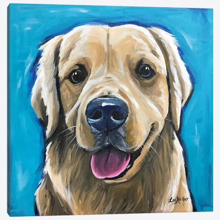 Expressive Golden Retriever Canvas Print #HHS29} by Hippie Hound Studios Canvas Art