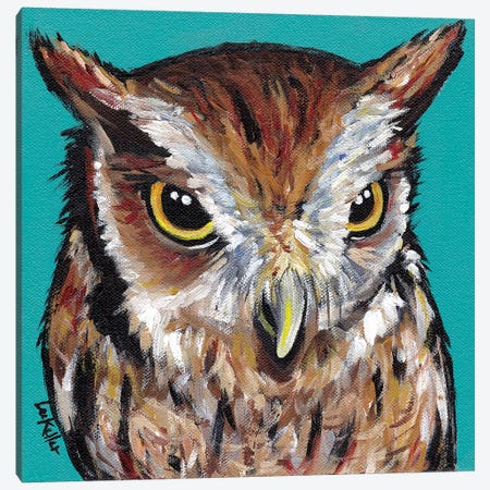 Screech Owl Canvas Print #HHS305} by Hippie Hound Studios Canvas Art