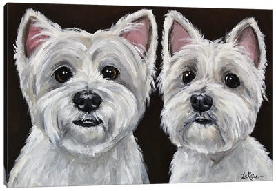West Highland Terrier Pair Canvas Art Print