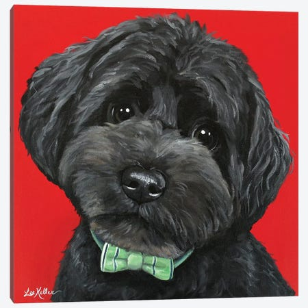 Yorkiepoo With Bowtie Canvas Print #HHS316} by Hippie Hound Studios Art Print