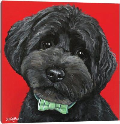Yorkiepoo With Bowtie Canvas Art Print
